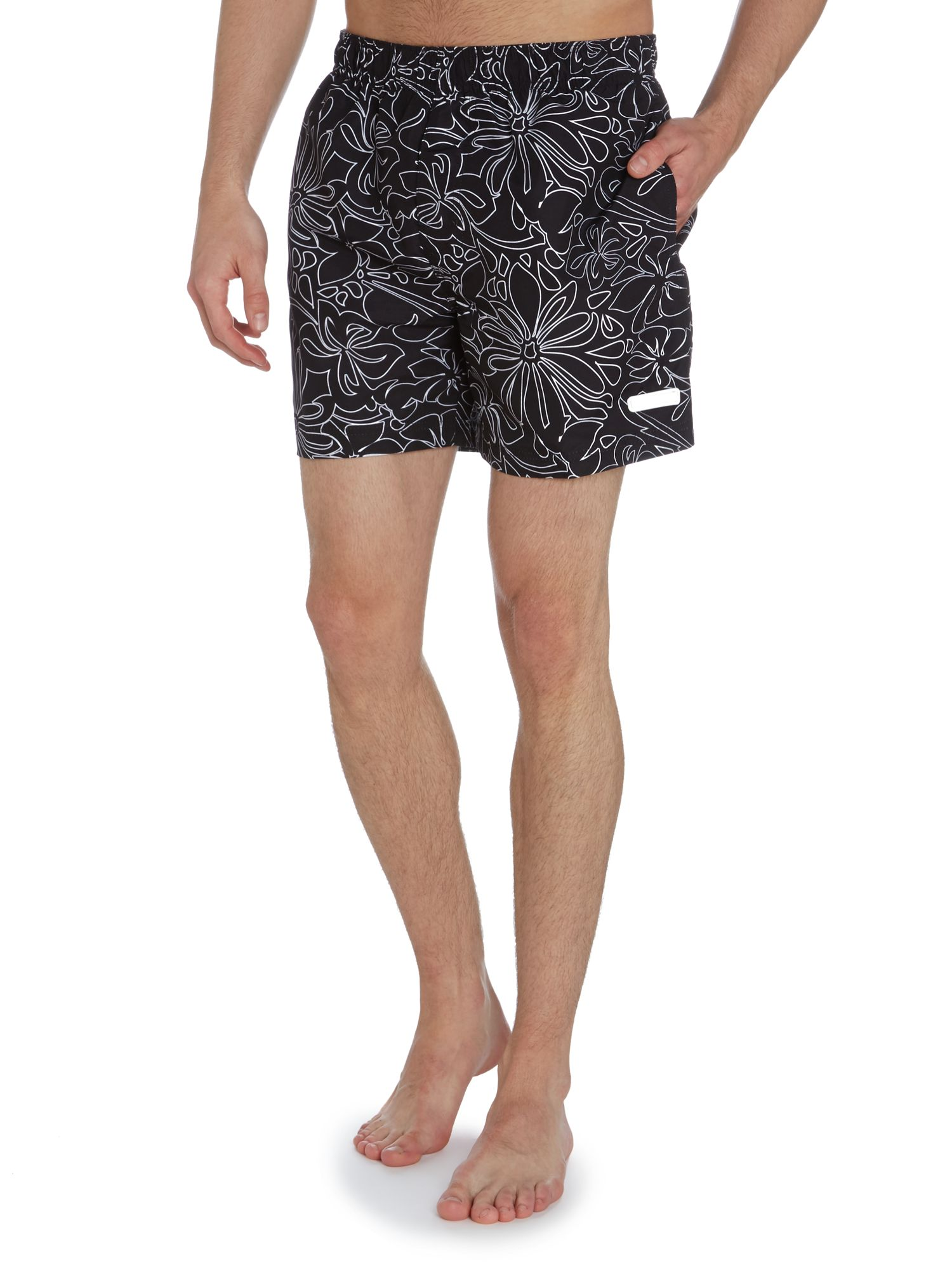 Hibiscus swim short