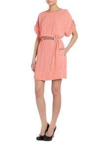 Tunic Rouche dress in peach