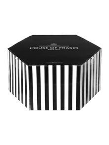 14 inch medium striped hat box