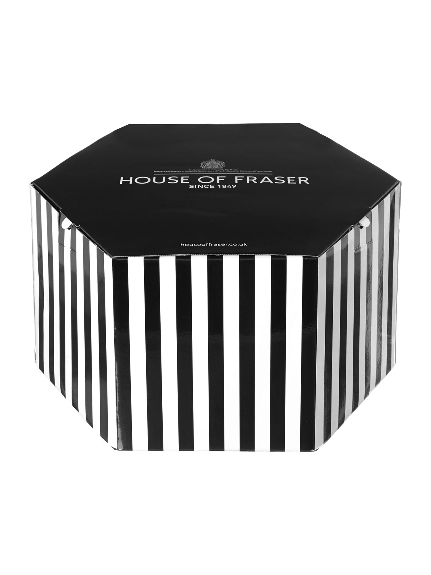 Large 21 inch striped hat box