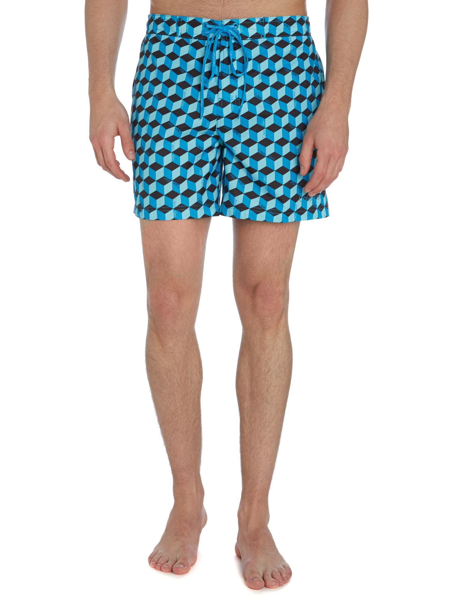 All over geo print swim short