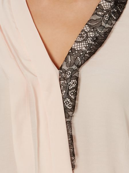 Salsa Cross over blouse with lace trim