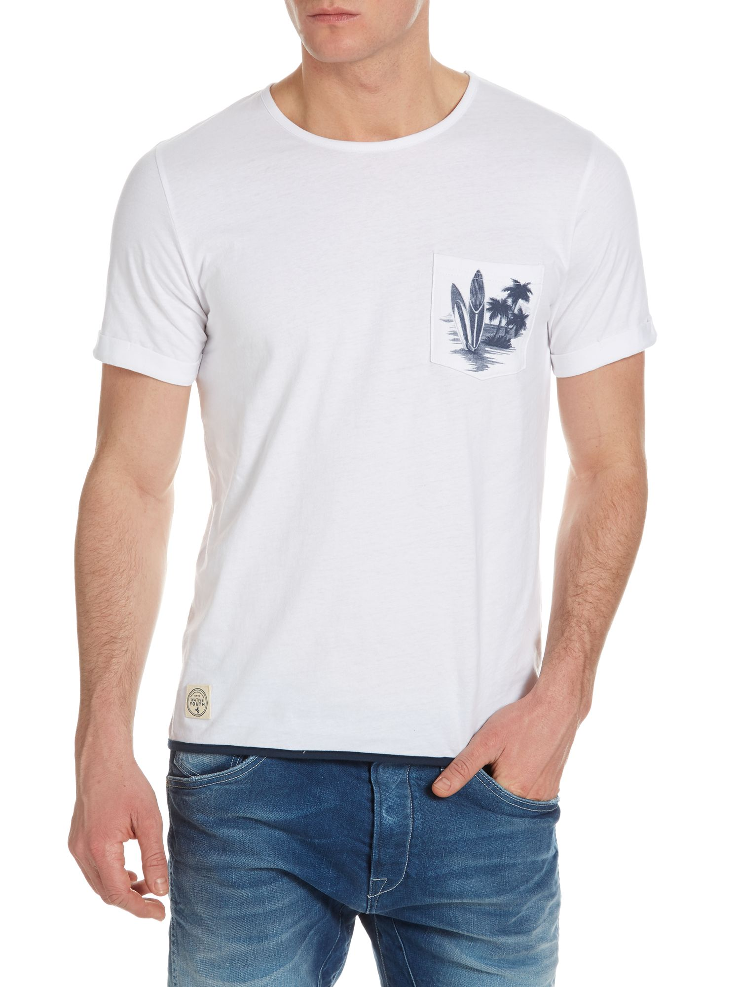 Surfboard pocket t-shirt