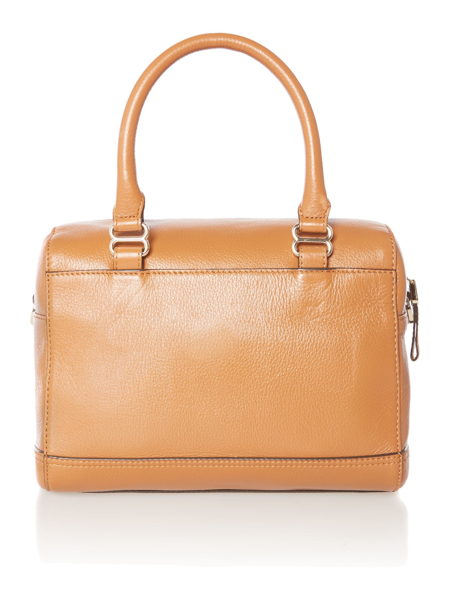 Tan small bowler bag