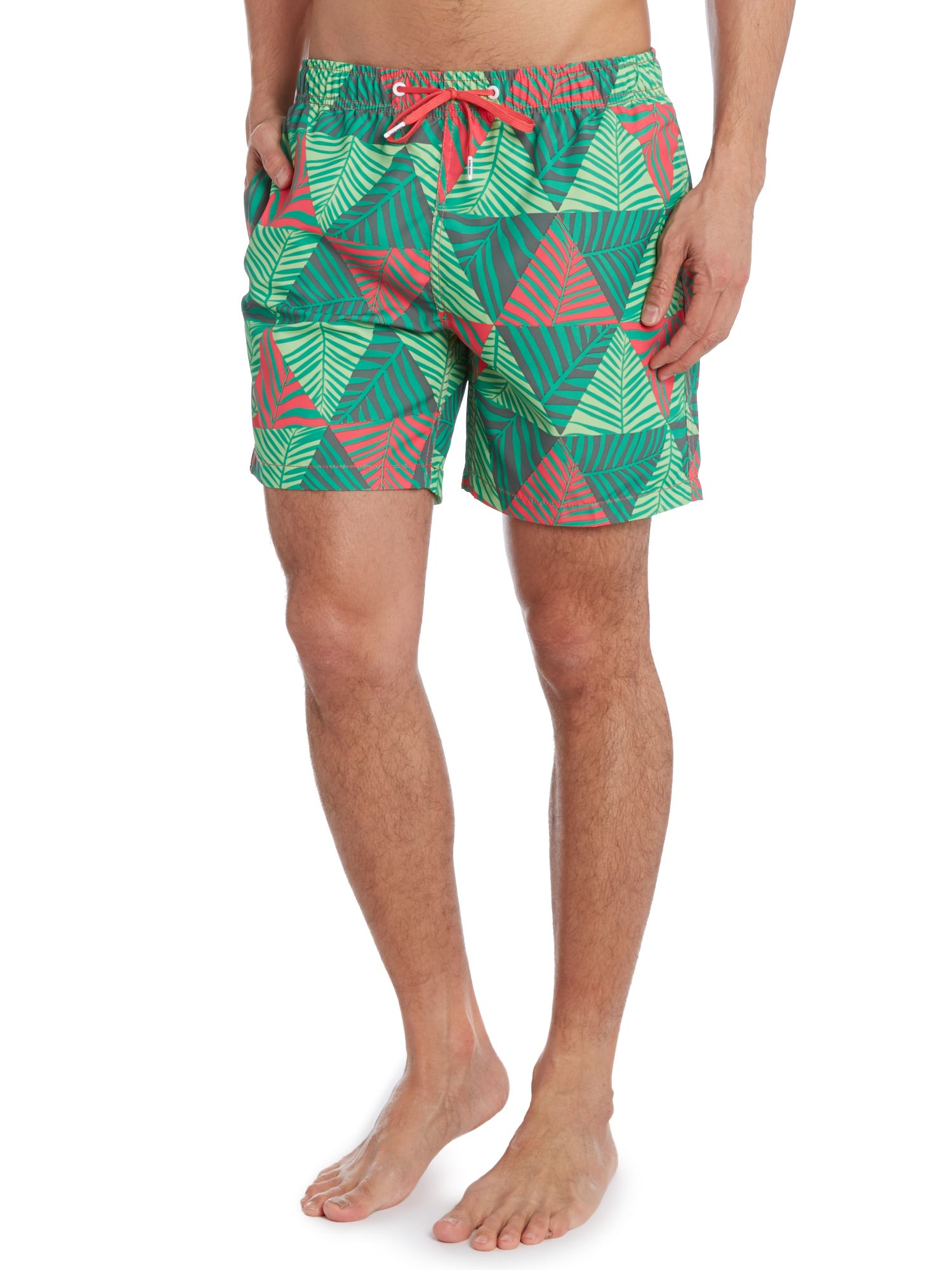 Prism palm all over print swim short