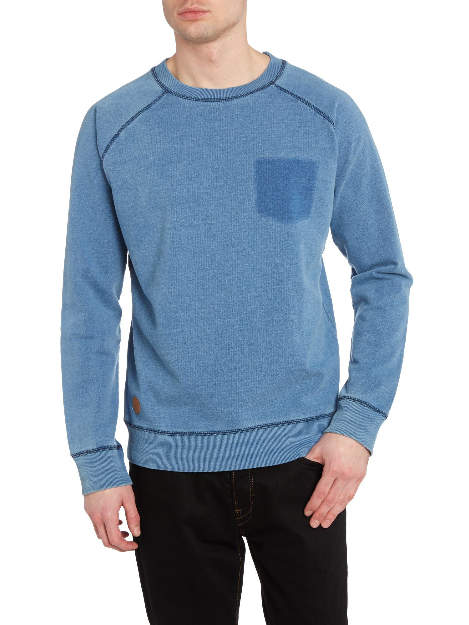 Crew neck ghost pocket sweatshirt