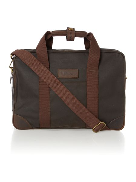 Barbour Leebord olive laptop bag