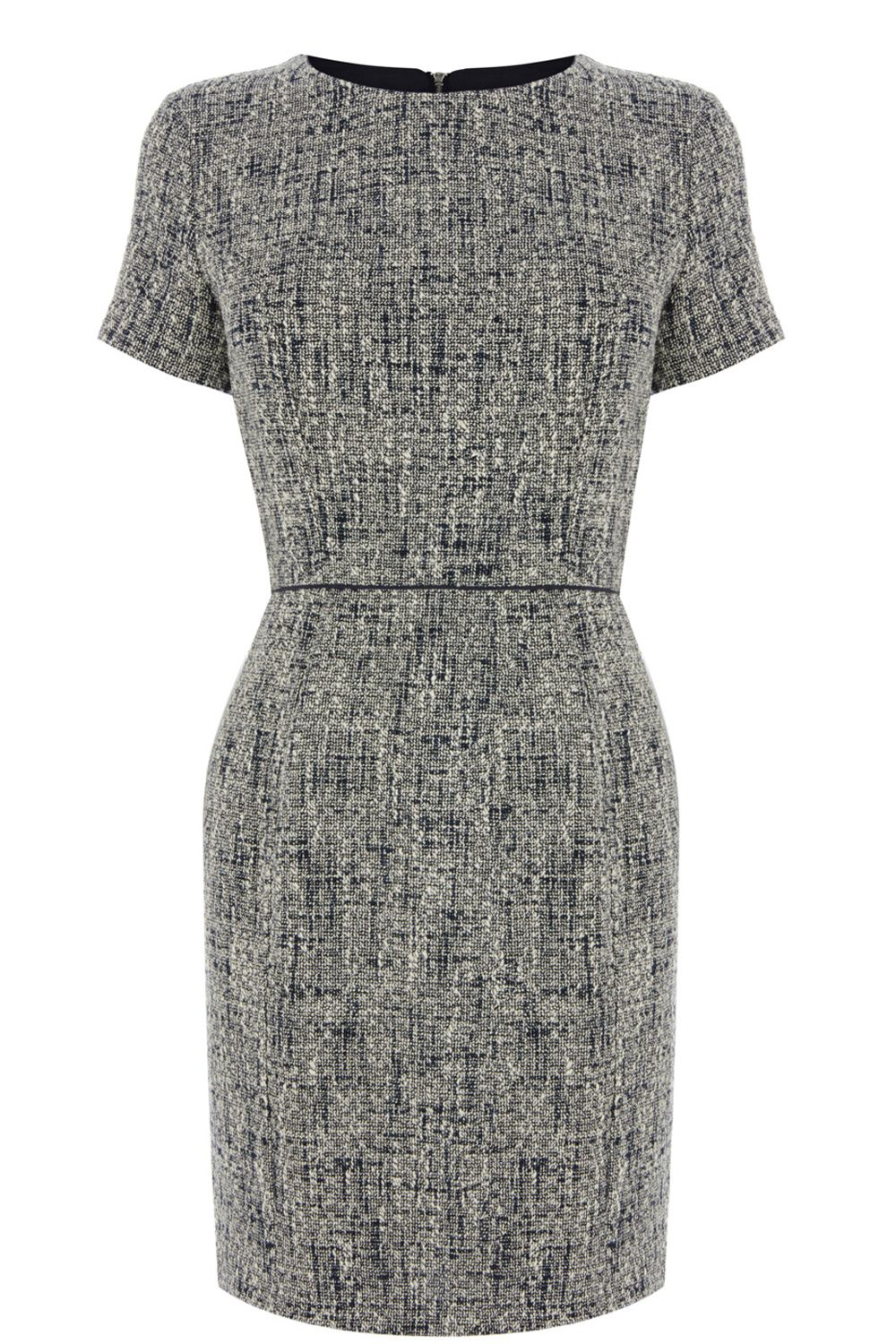 Spring tweed shift dress