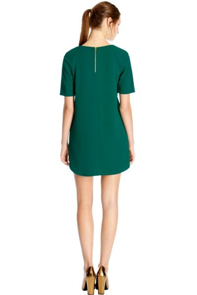 Warehouse Textured crepe shift dress