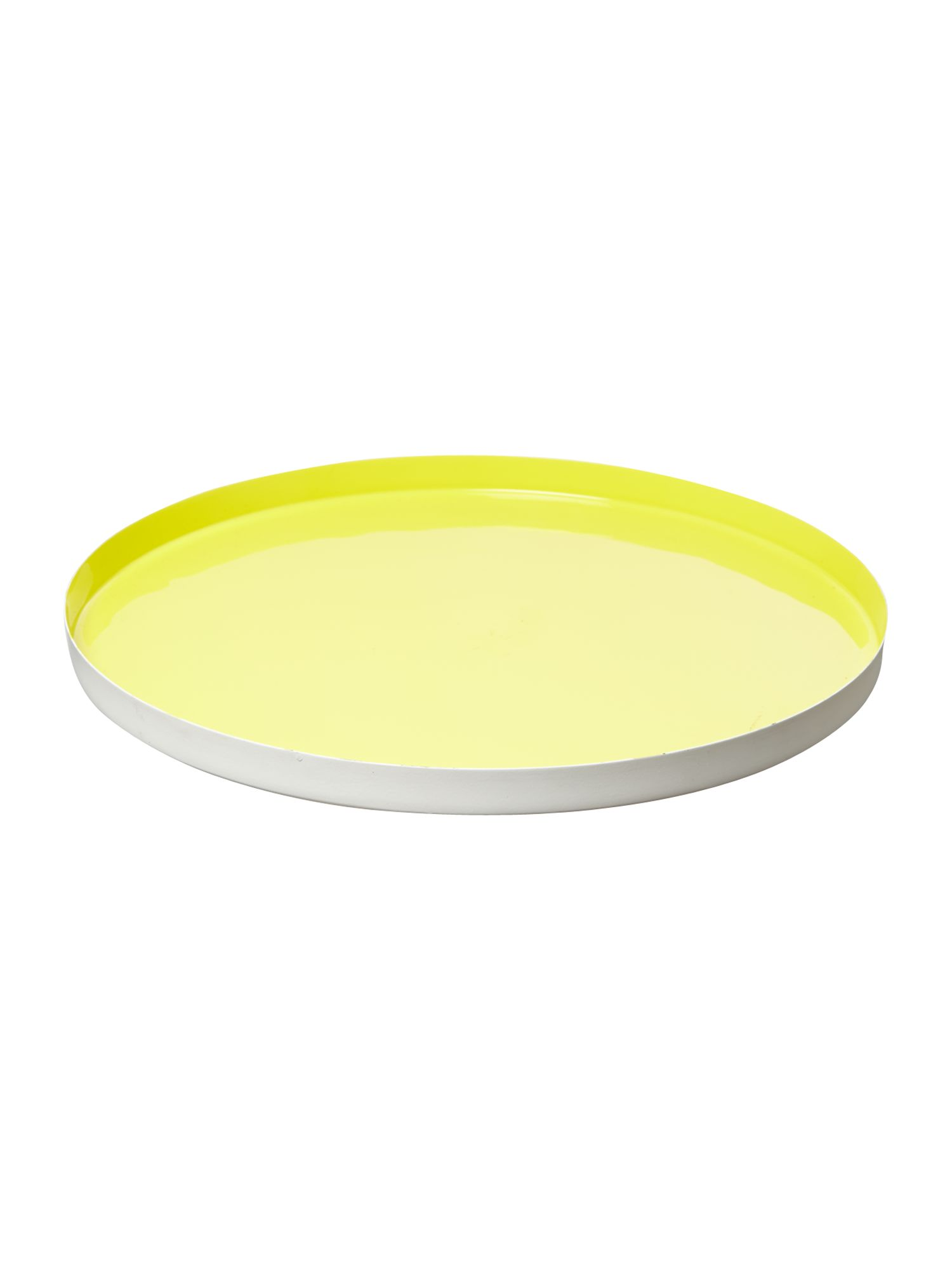 Lime enamel tray