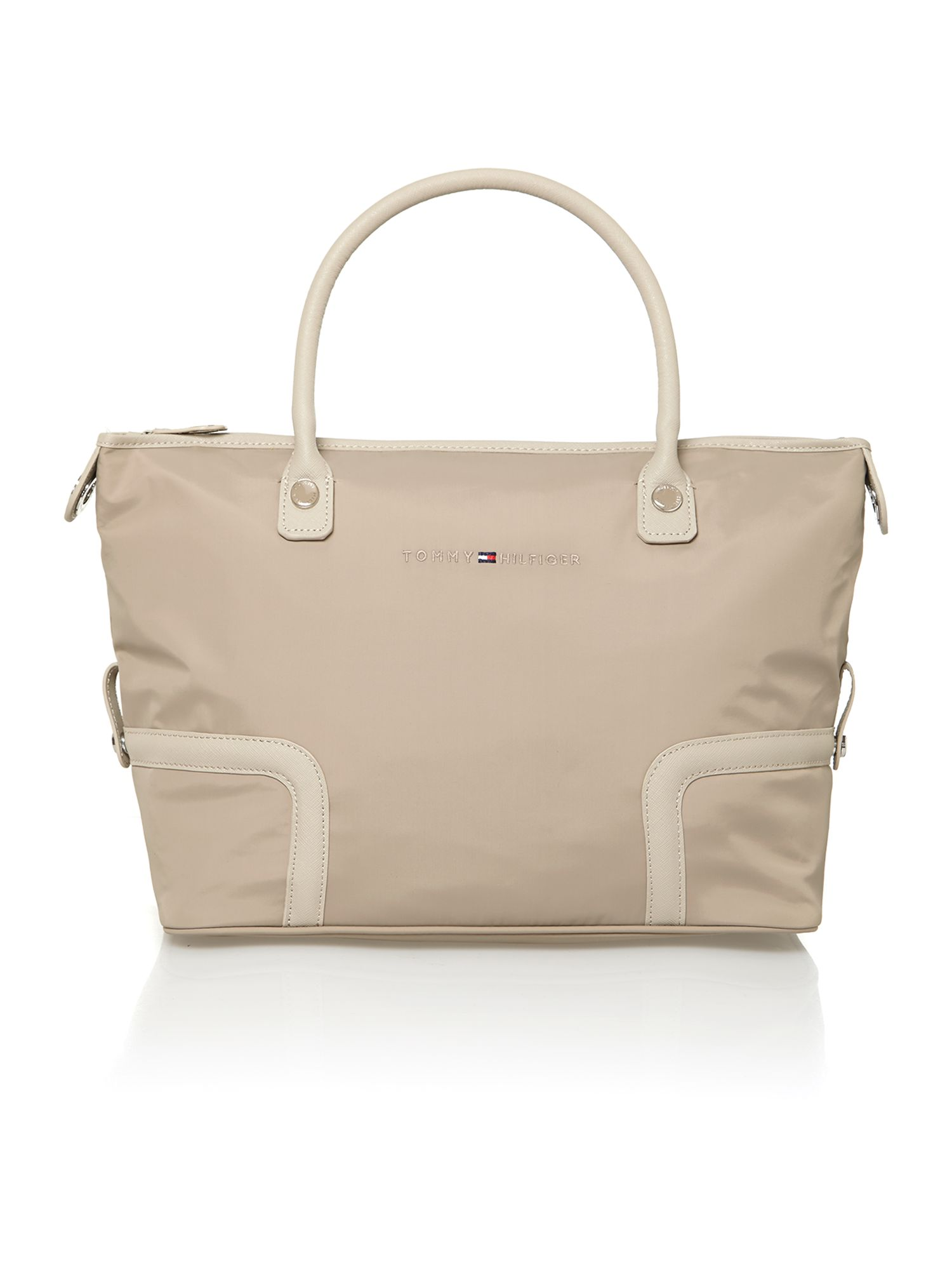 Neutral medium tote bag