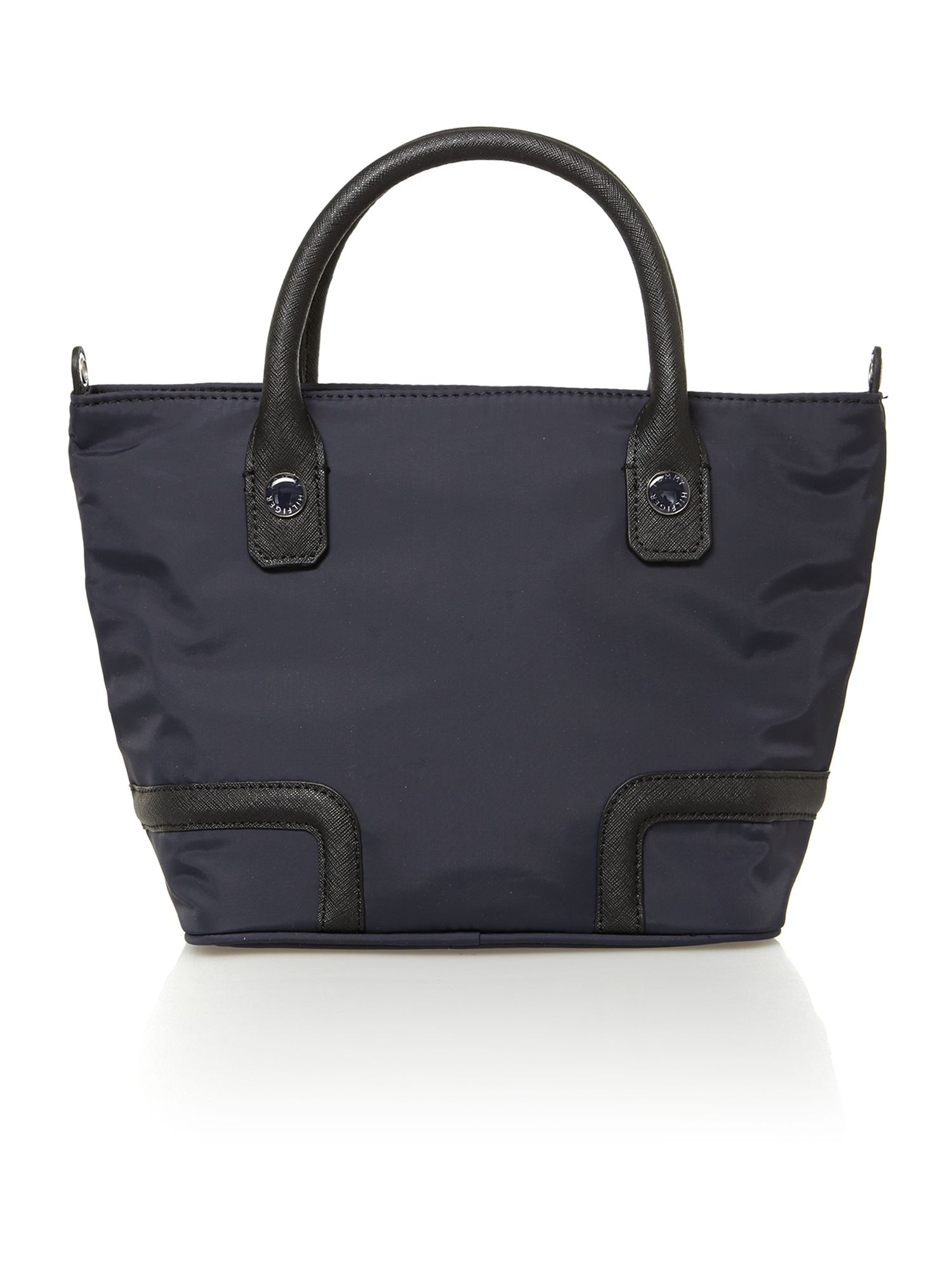 Navy small tote bag