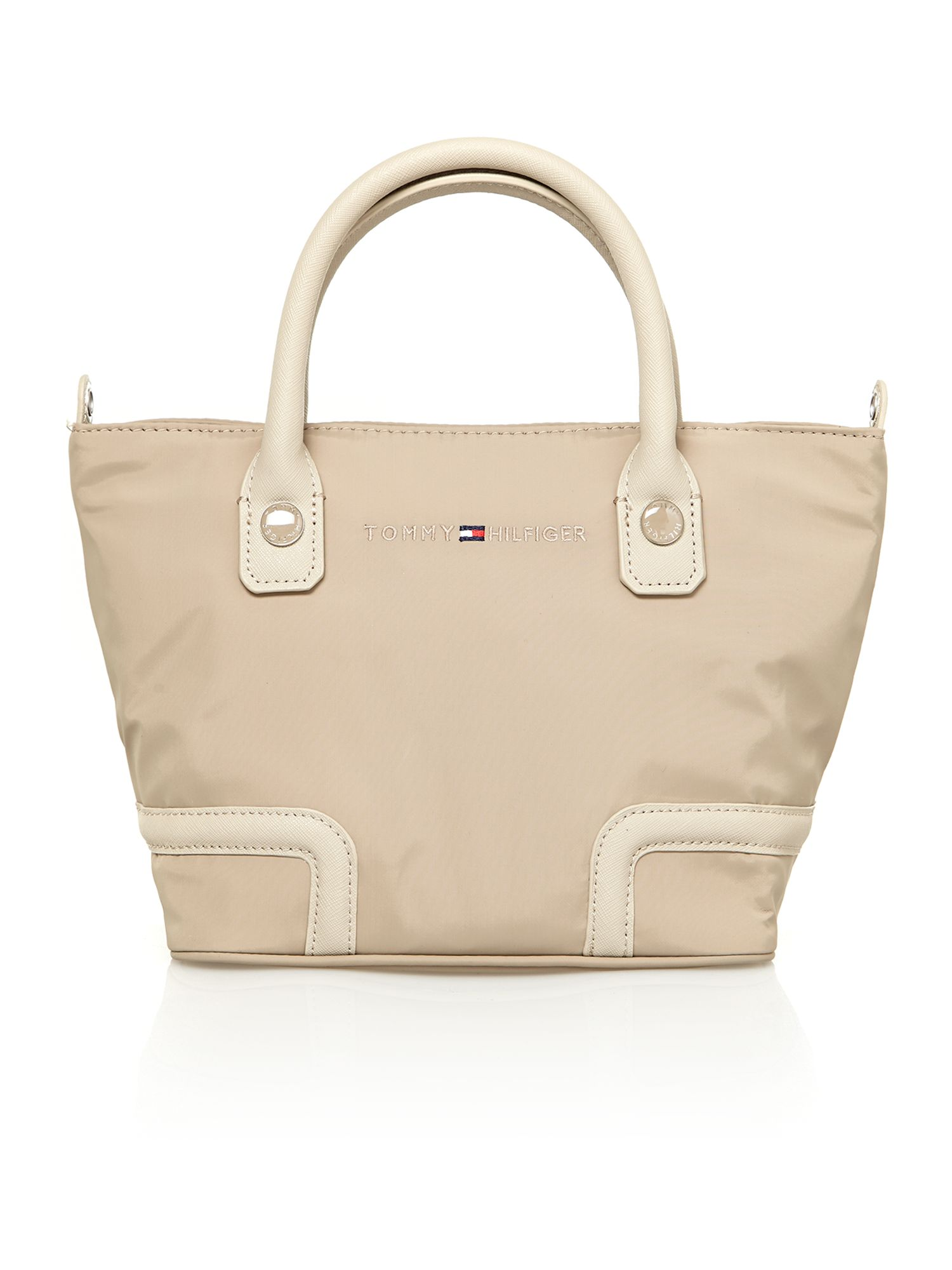 Neutral small tote bag