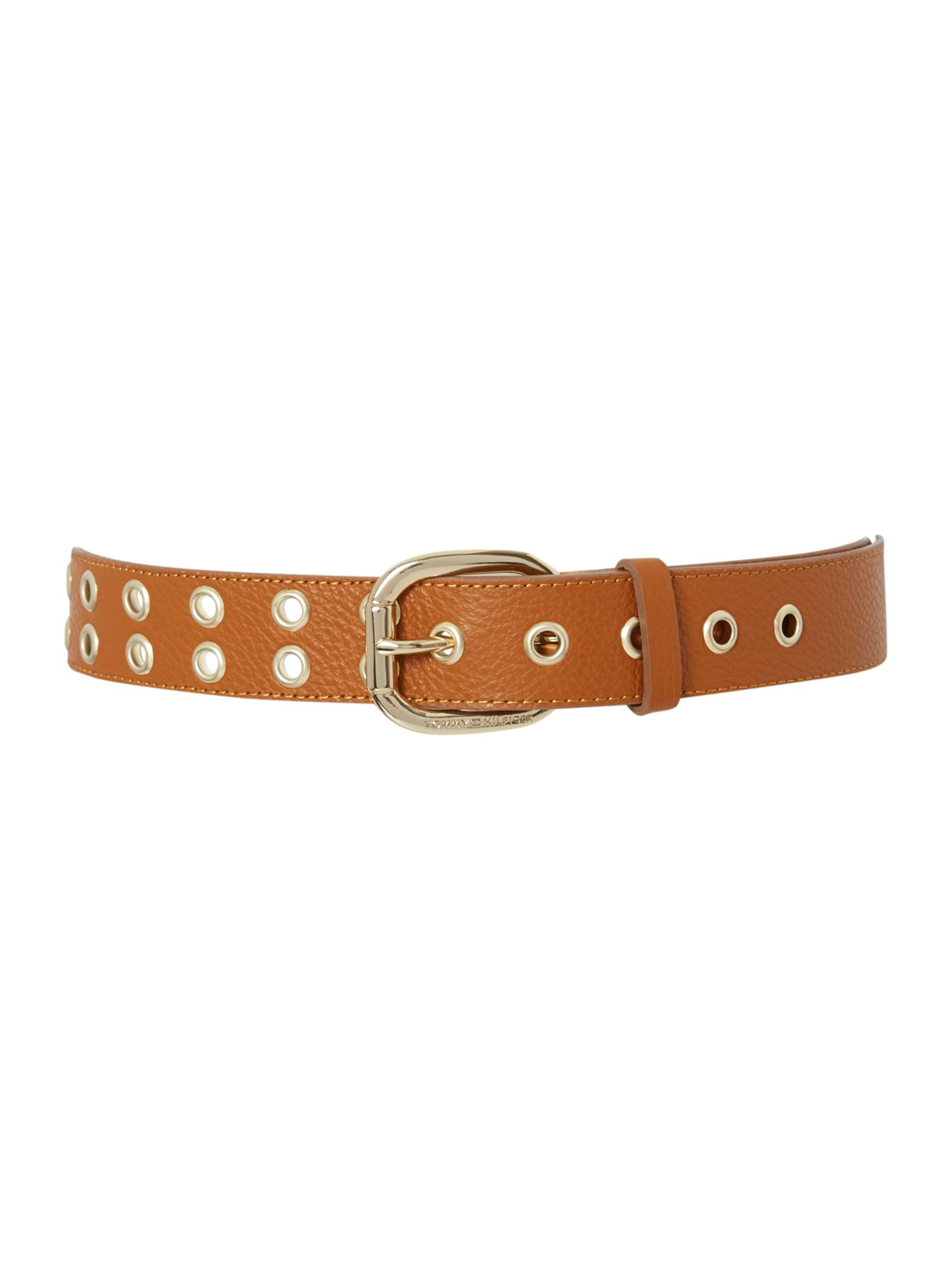 Lilly tan medium eyelet belt