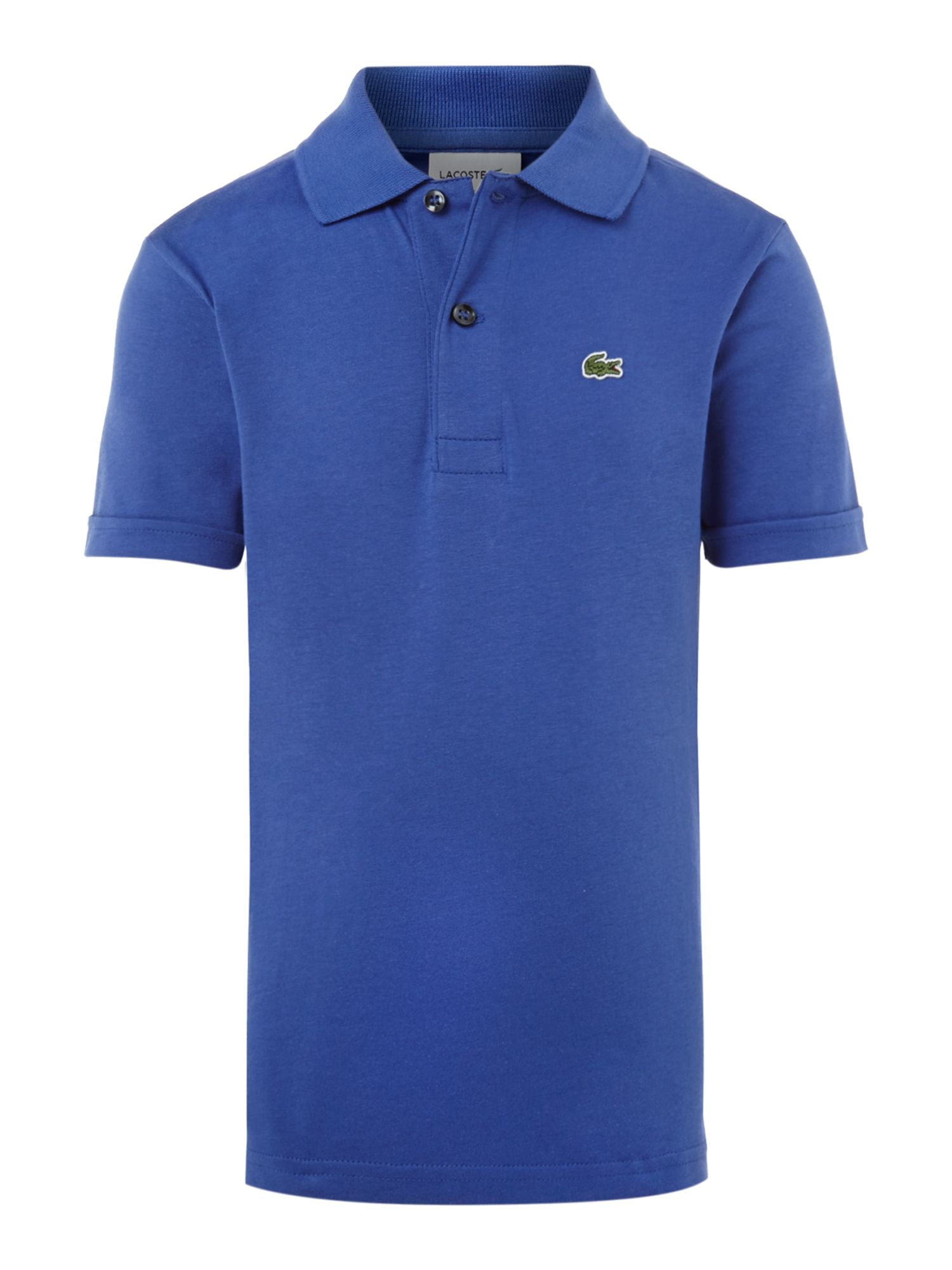 Boys plain jersey polo shirt