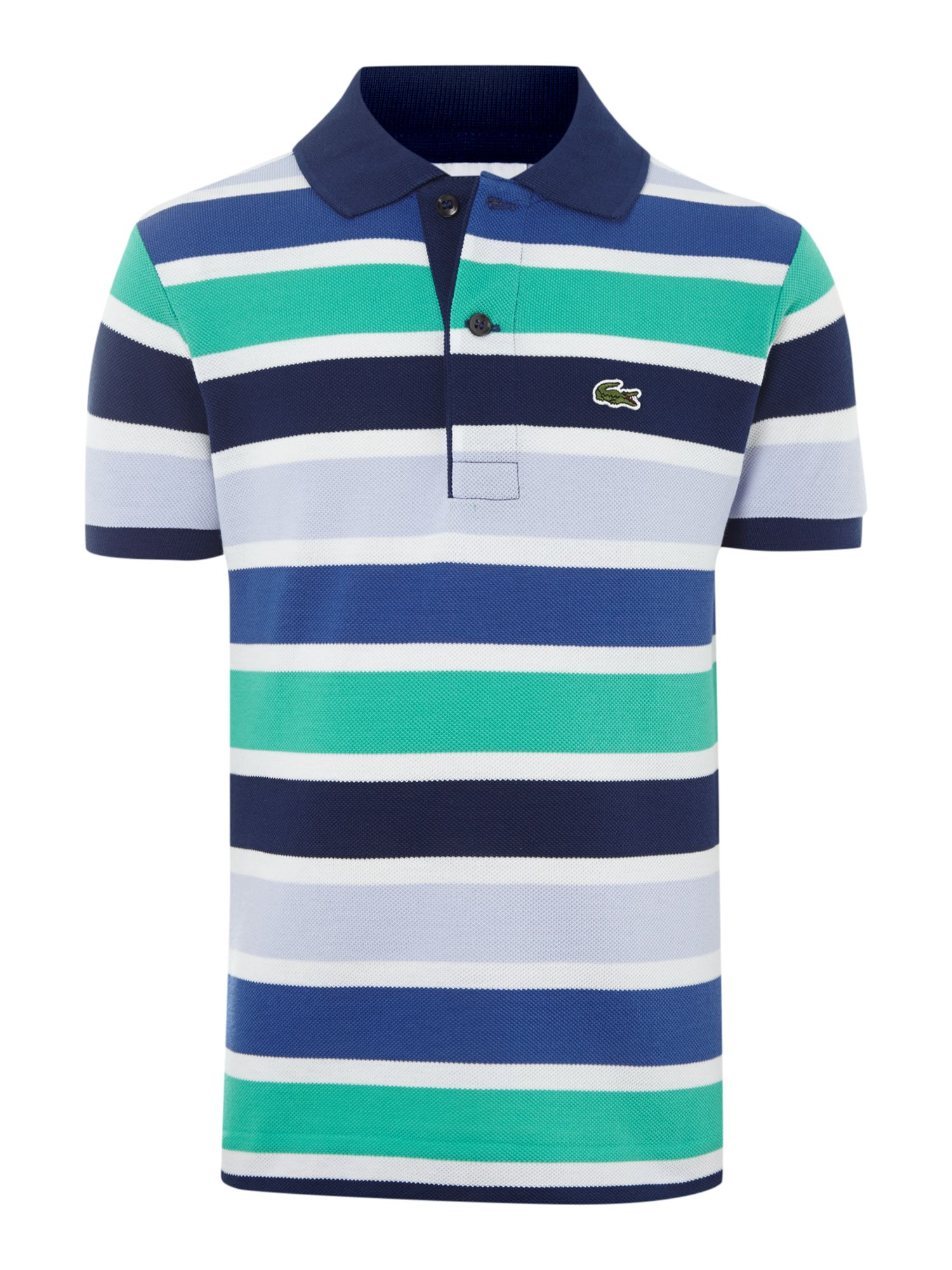 Boys multi stripe polo shirt