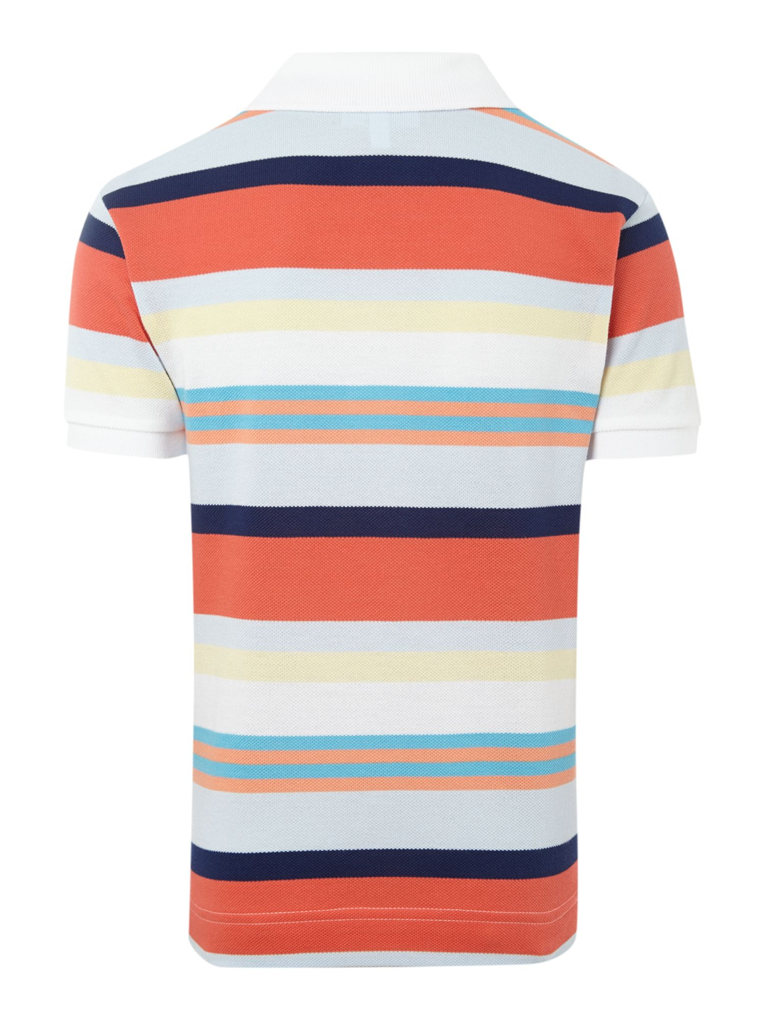 Boys mixed stripe polo shirt