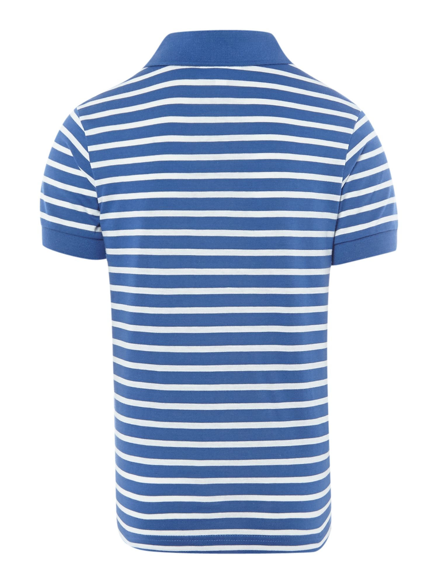 Boys breton stripe polo shirt