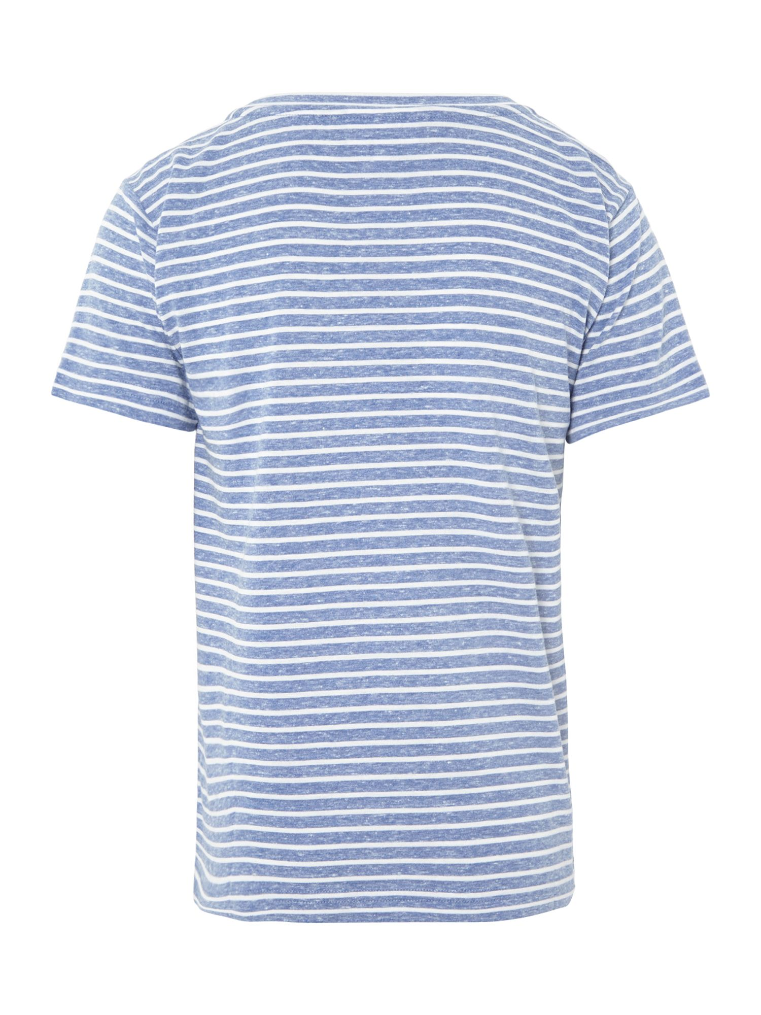 Boys slub stripe logo t-shirt