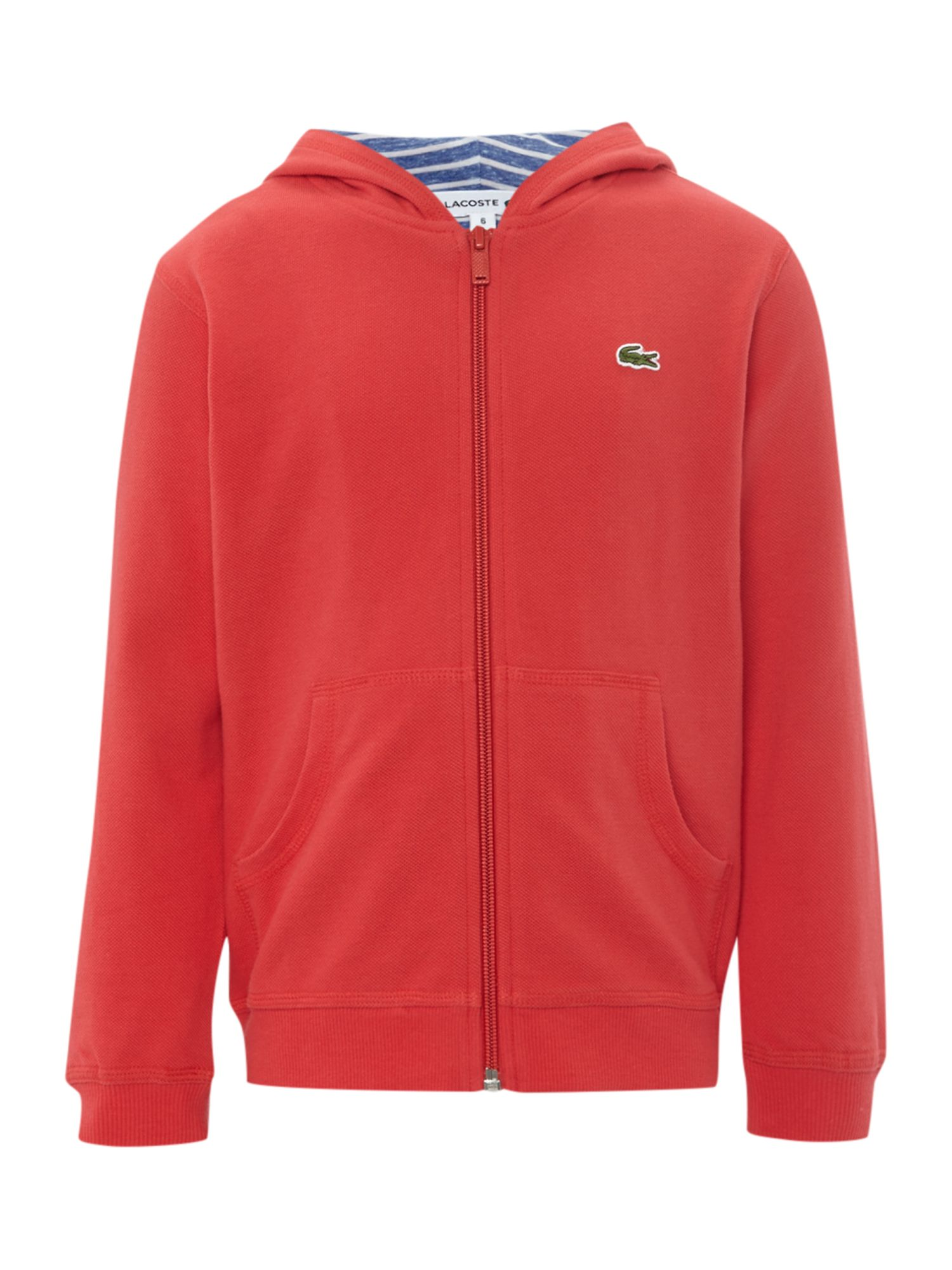 Boys pique hooded sweater