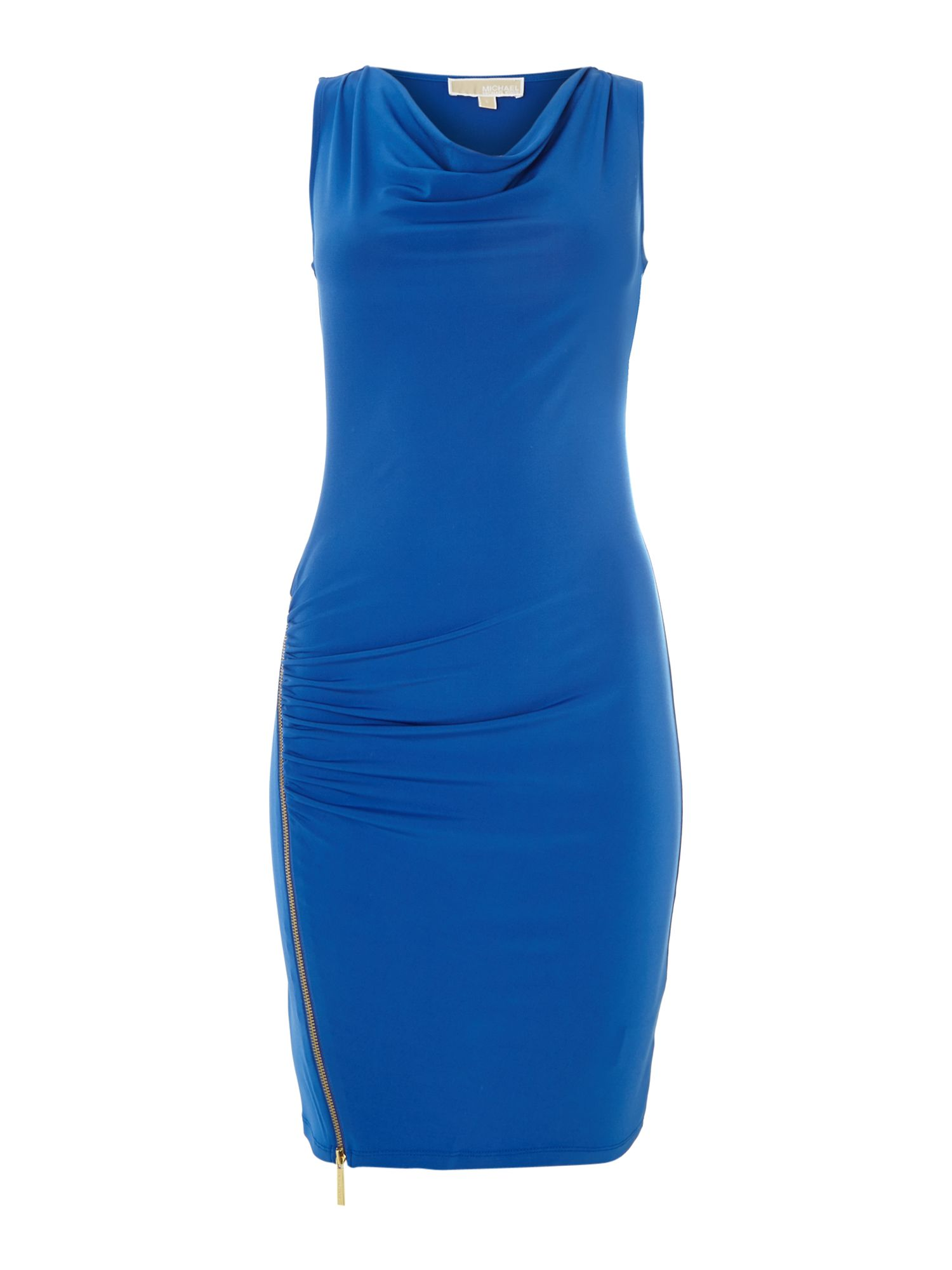 Sleeveless cowl neck dress