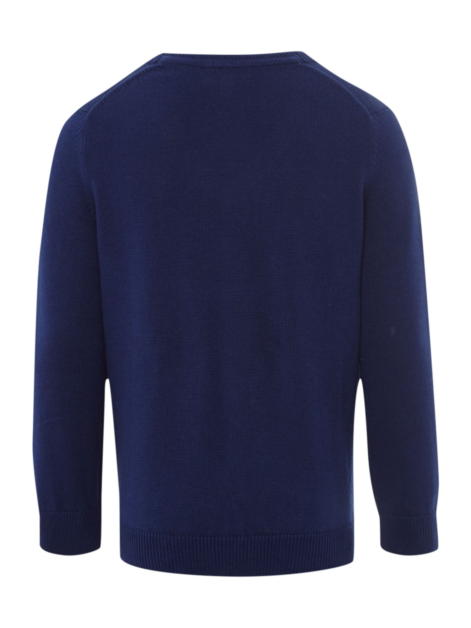 Boys v neck knitted jumper