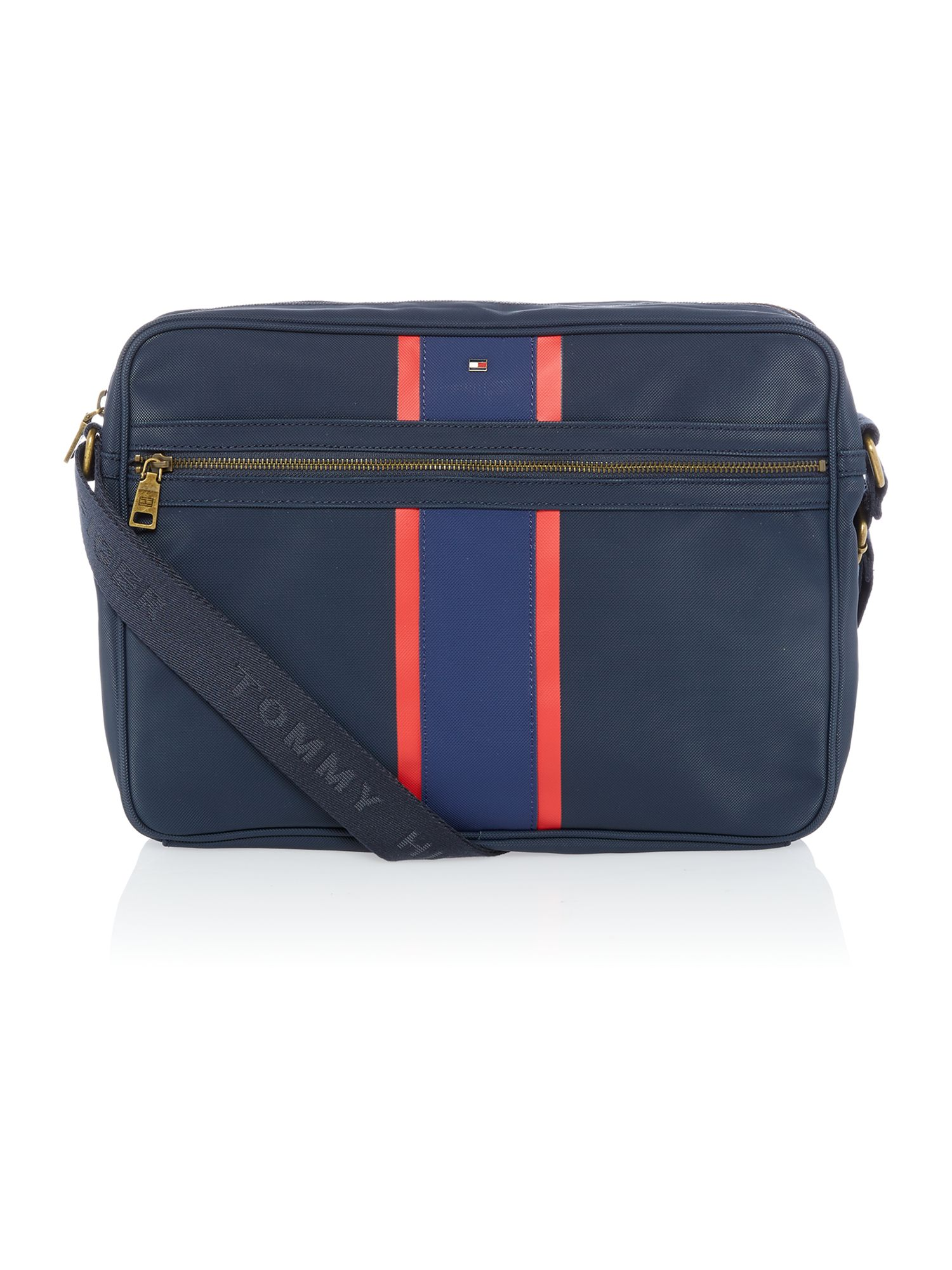 Block stripe ridley messenger bag