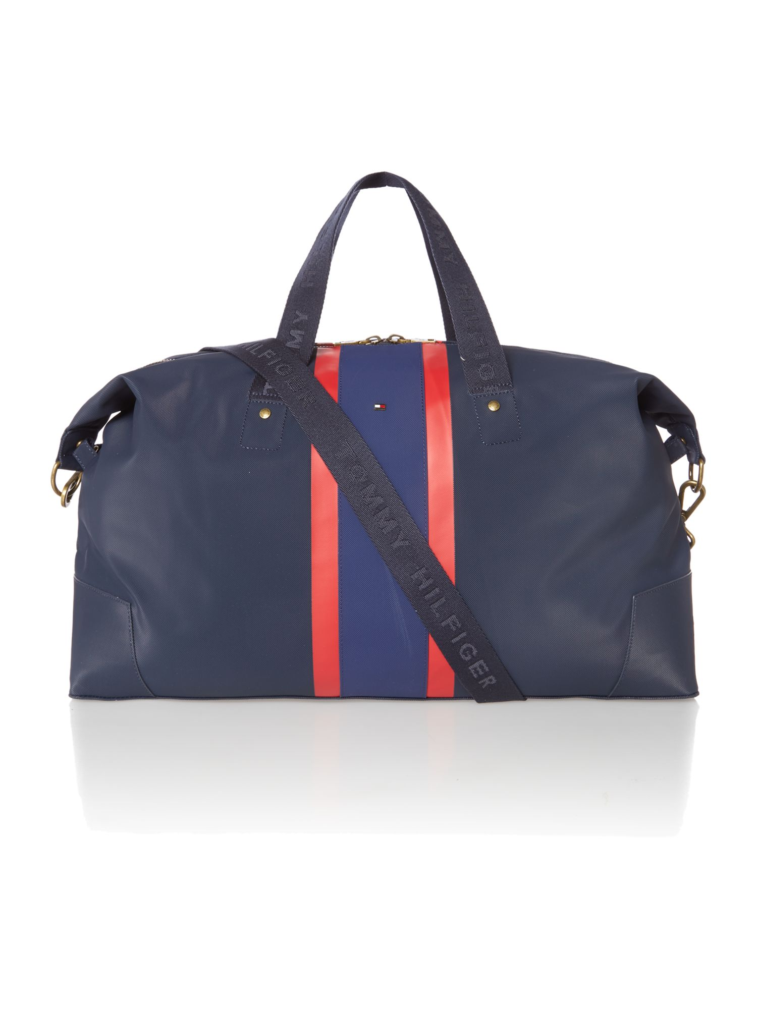Block stripe ridley duffle bag