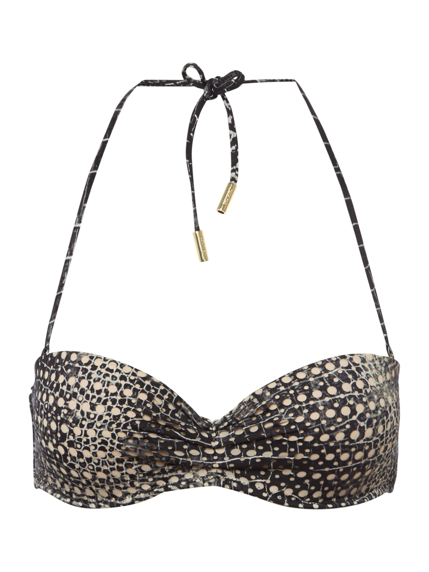 Luxe laser cut animal underwire bandeau bikini