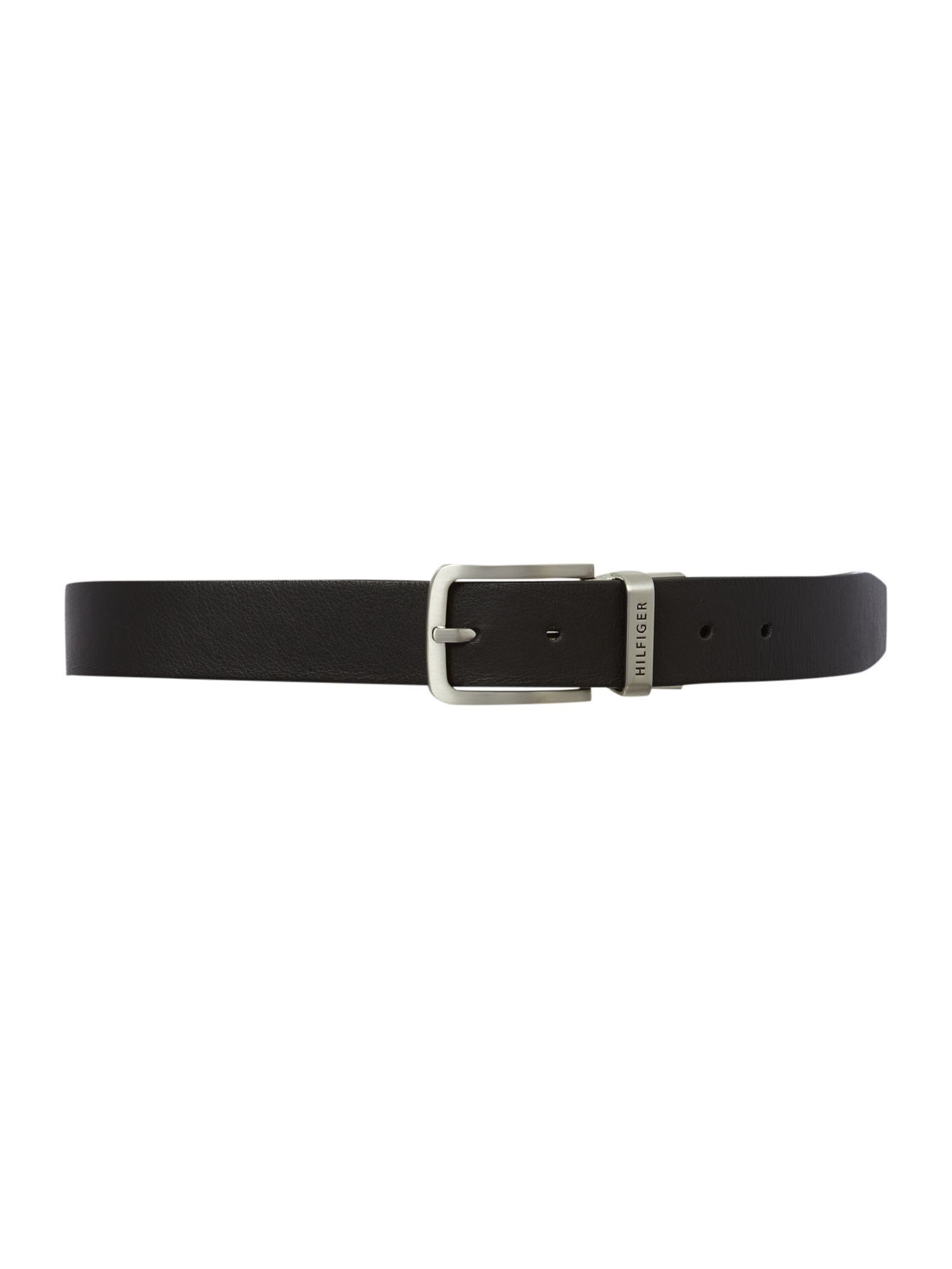 Reversible plain leather belt