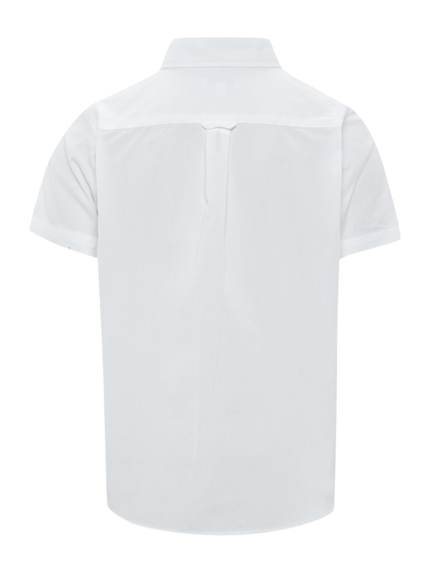 Boys classic pocket white shirt