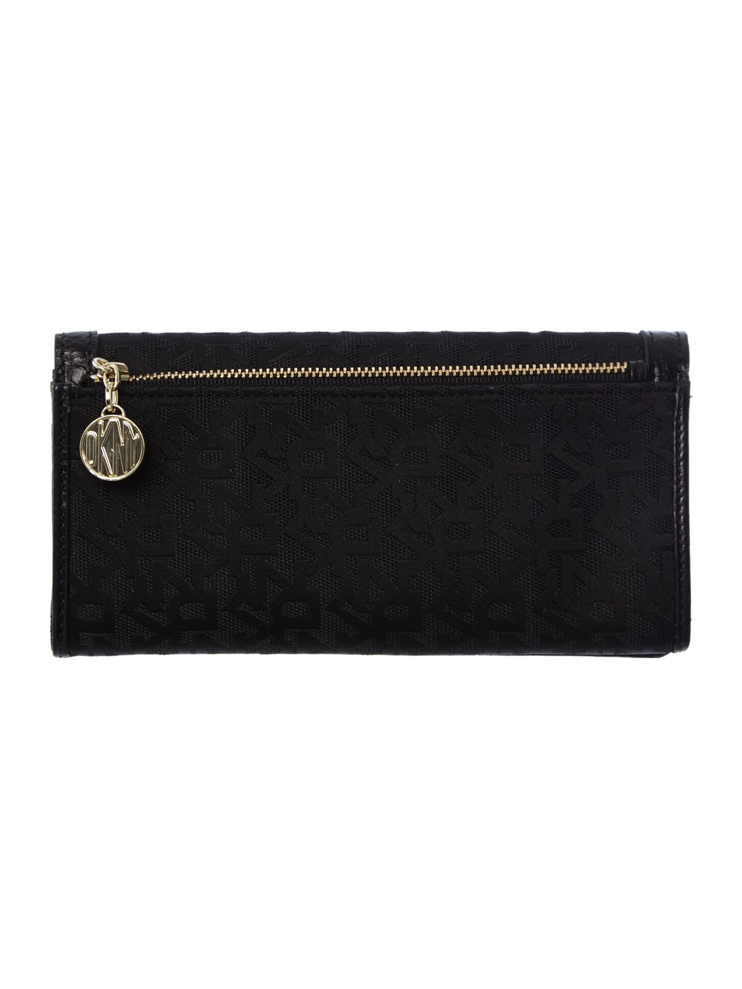 French grain black large flap over purse