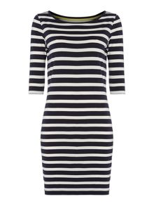 3/4 Sleeve stripe dress