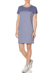 Colourblock stripe dress