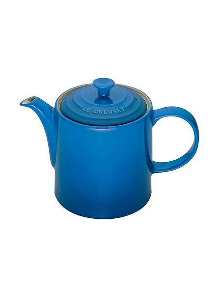le creuset grand teapot marseille blue 1 3l house of fraser. Black Bedroom Furniture Sets. Home Design Ideas