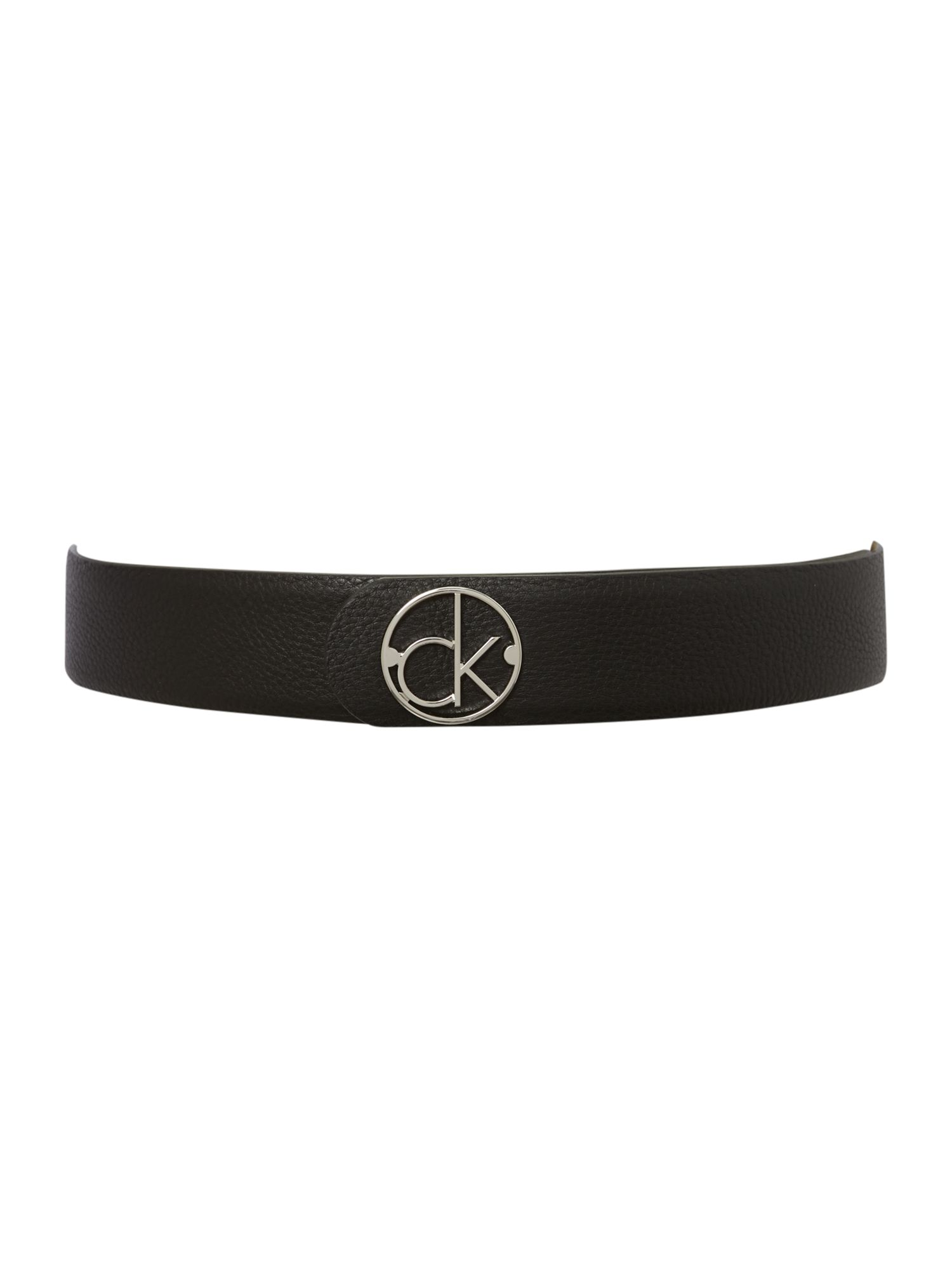 Rennee black round buckle belt