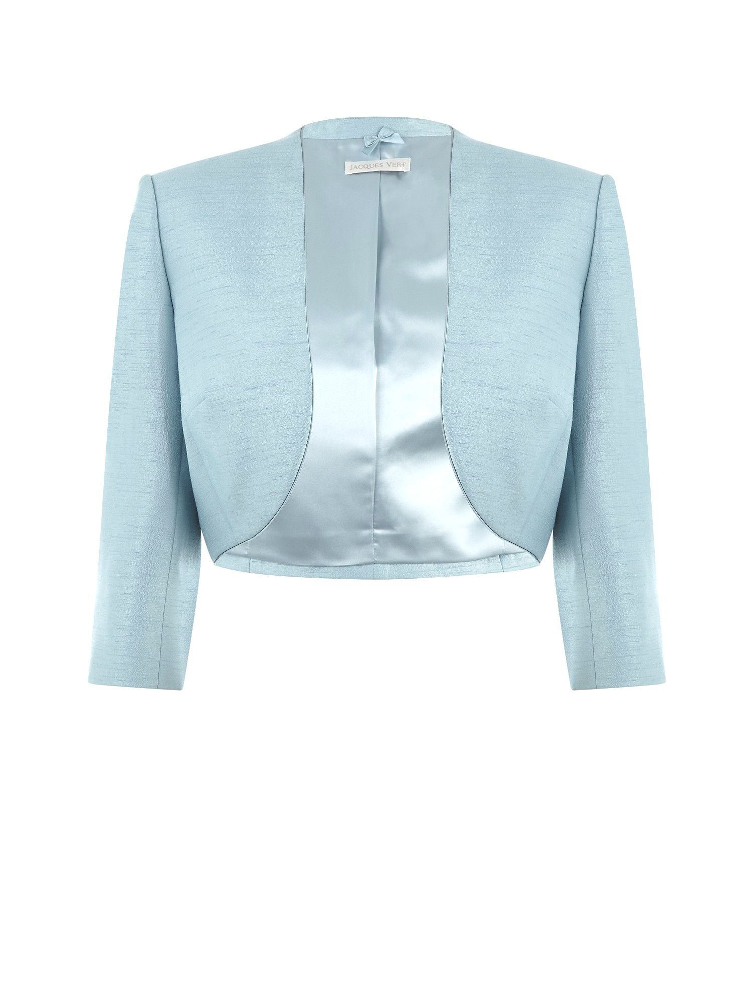 Misty blue tailored bolero
