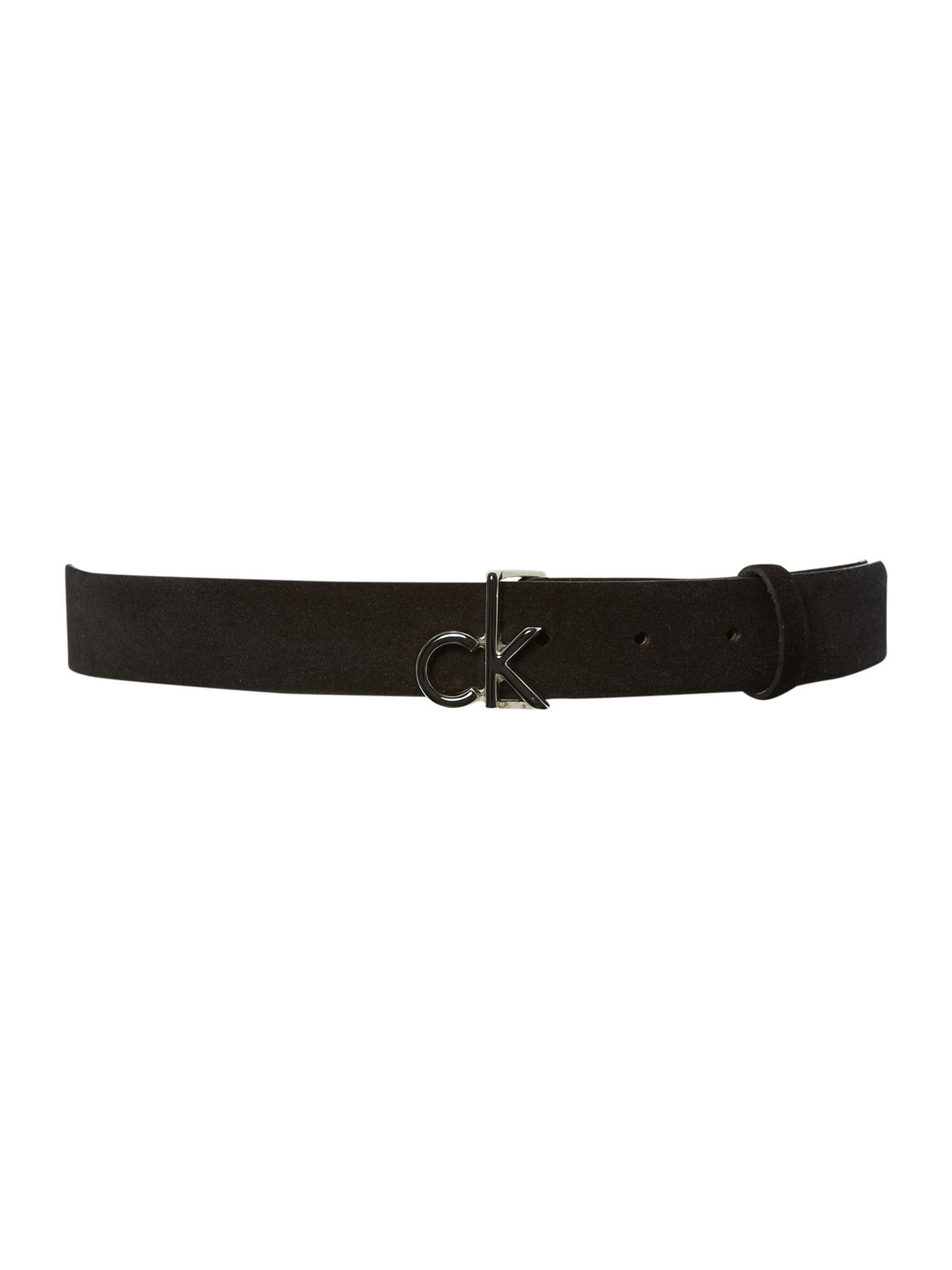Emma black suede belt