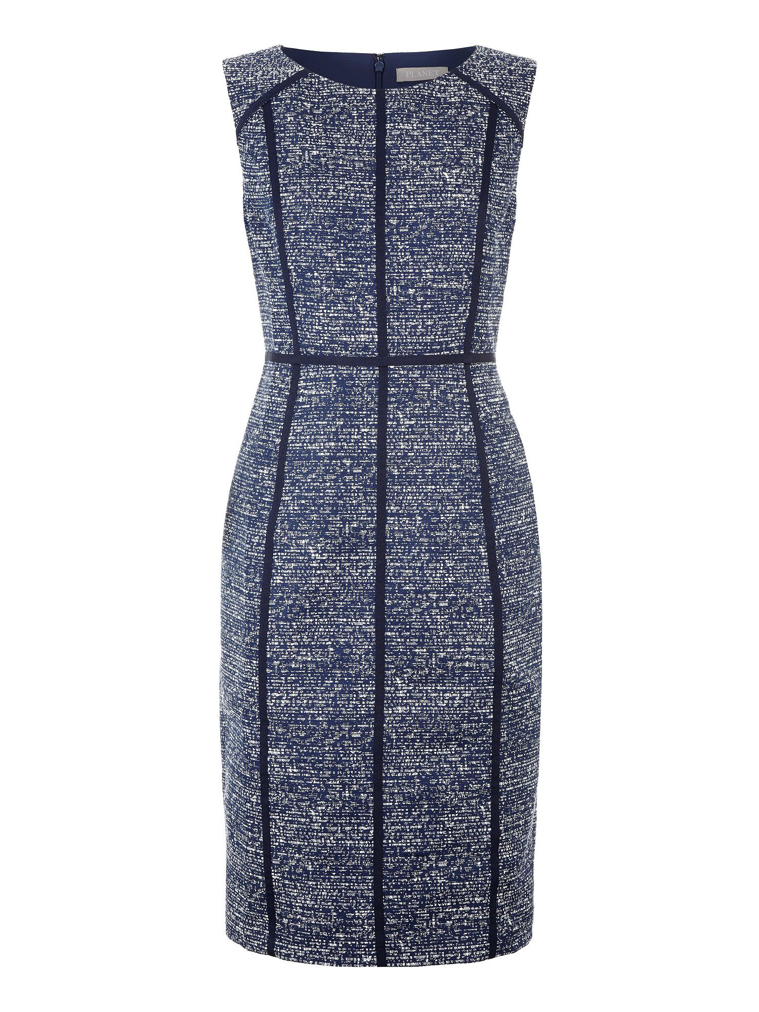 Navy textured dress