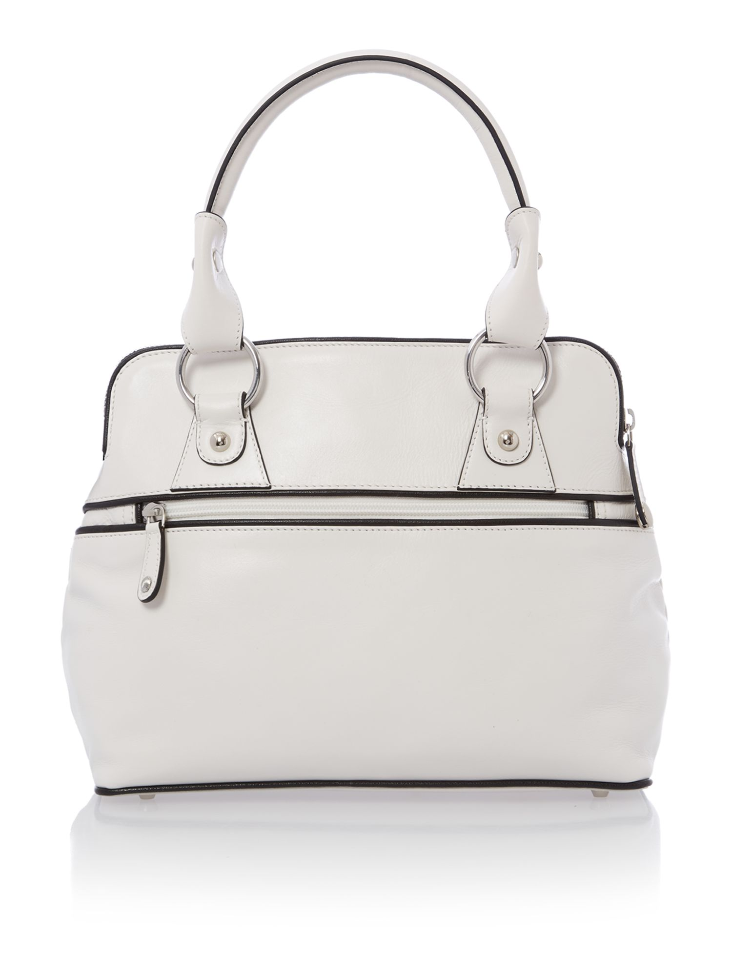 Pippa white mini tote bag