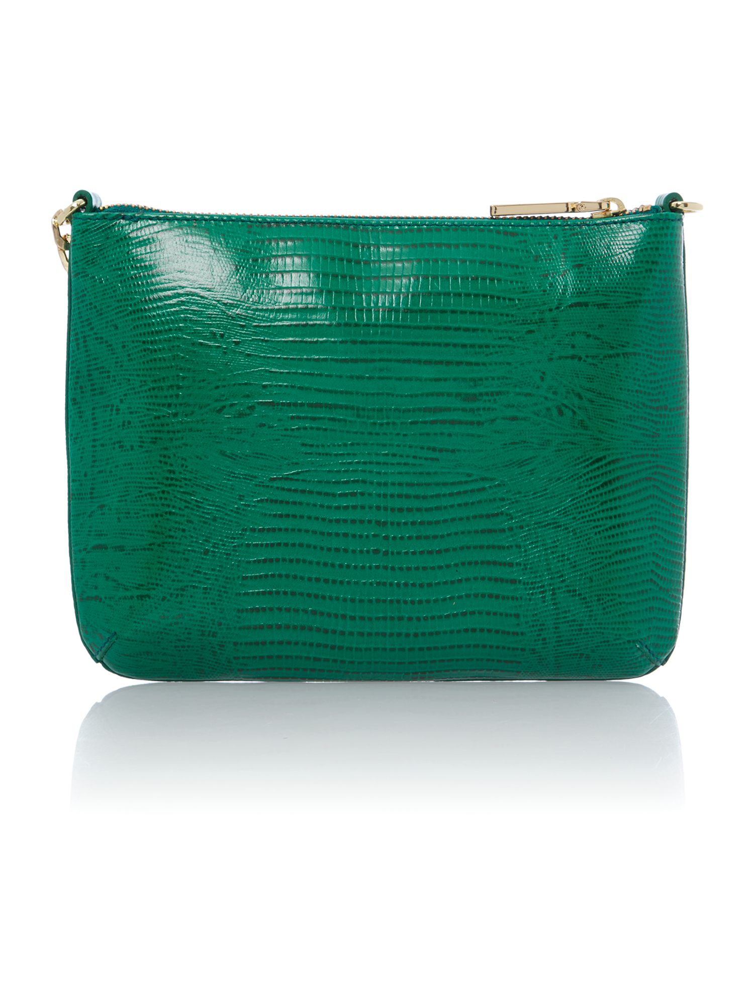 Twiggy small green lizard cross body bag