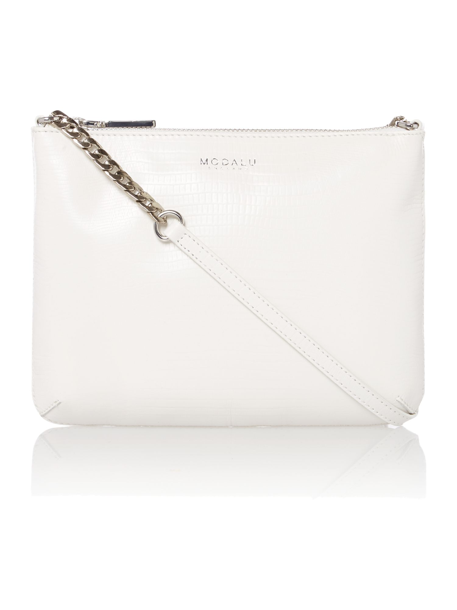 Twiggy small white cross body bag