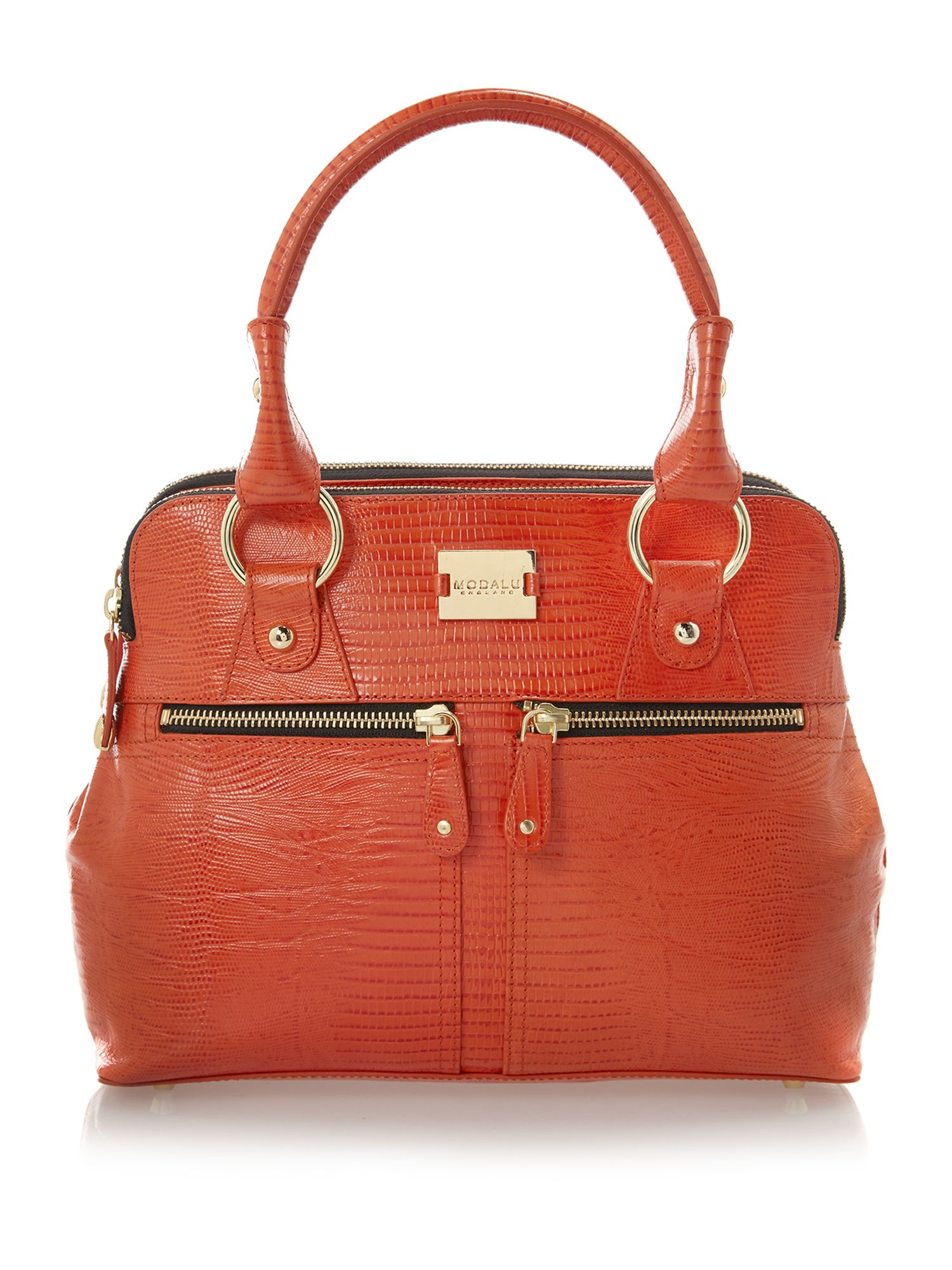 Pippa orange mini tote bag