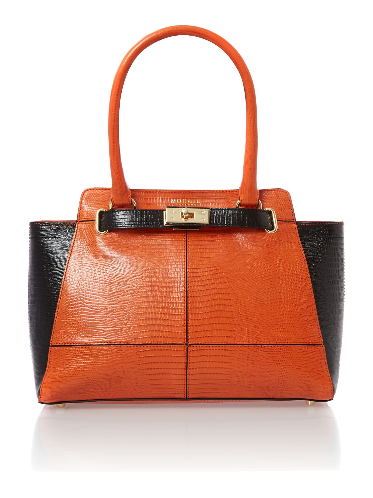 Marlow medium orange tote bag
