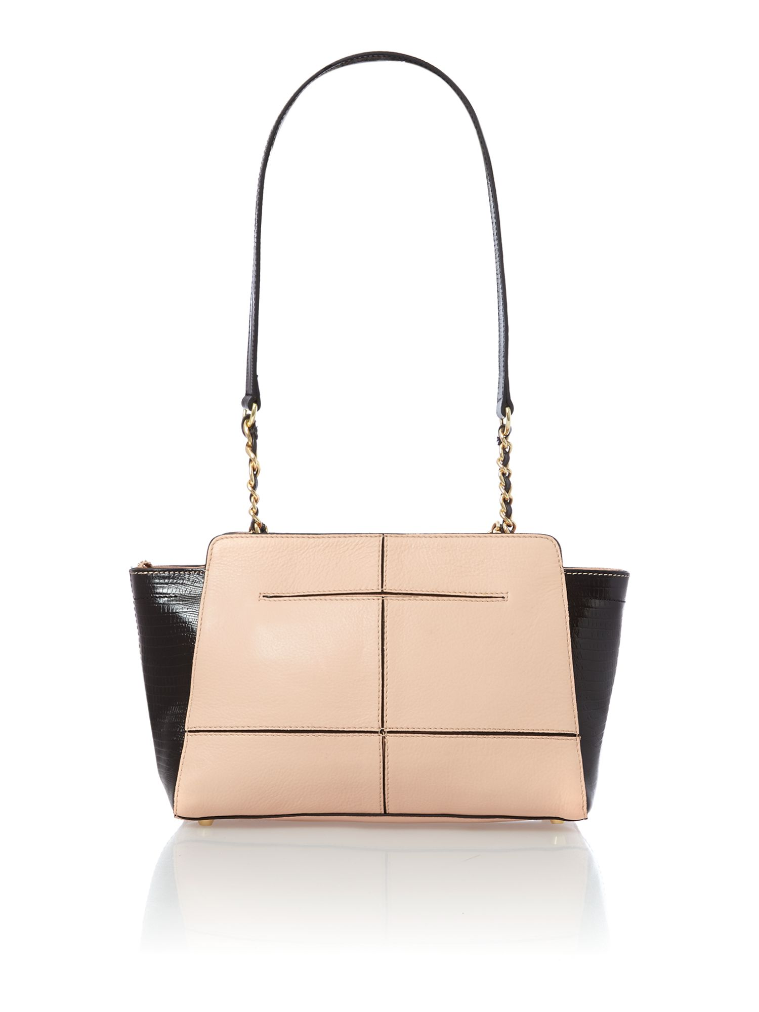 Marlow neutral small shoulder bag