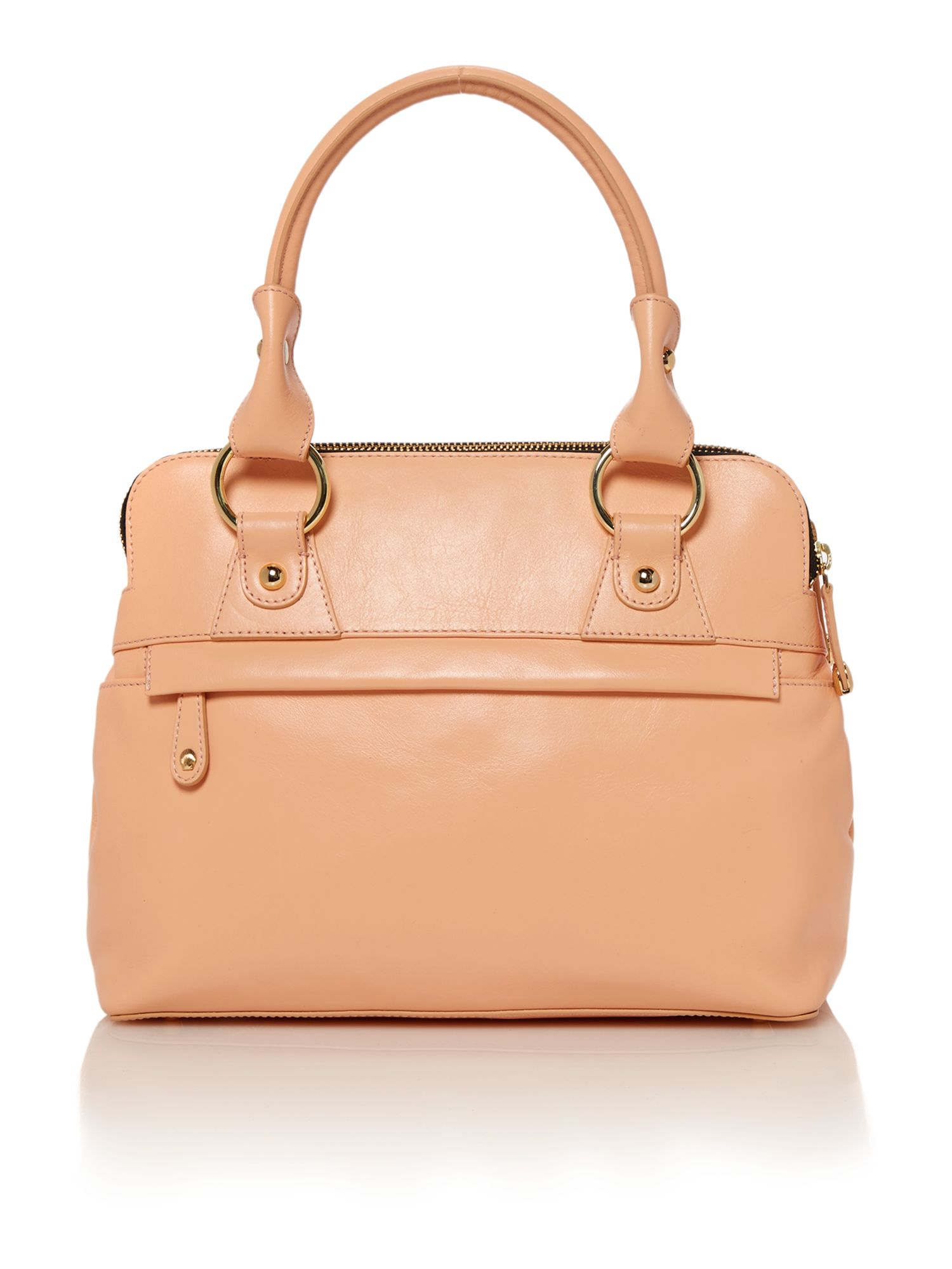 Pippa coral mini tote bag