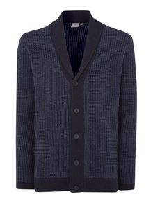brandy shawl neck cardigan