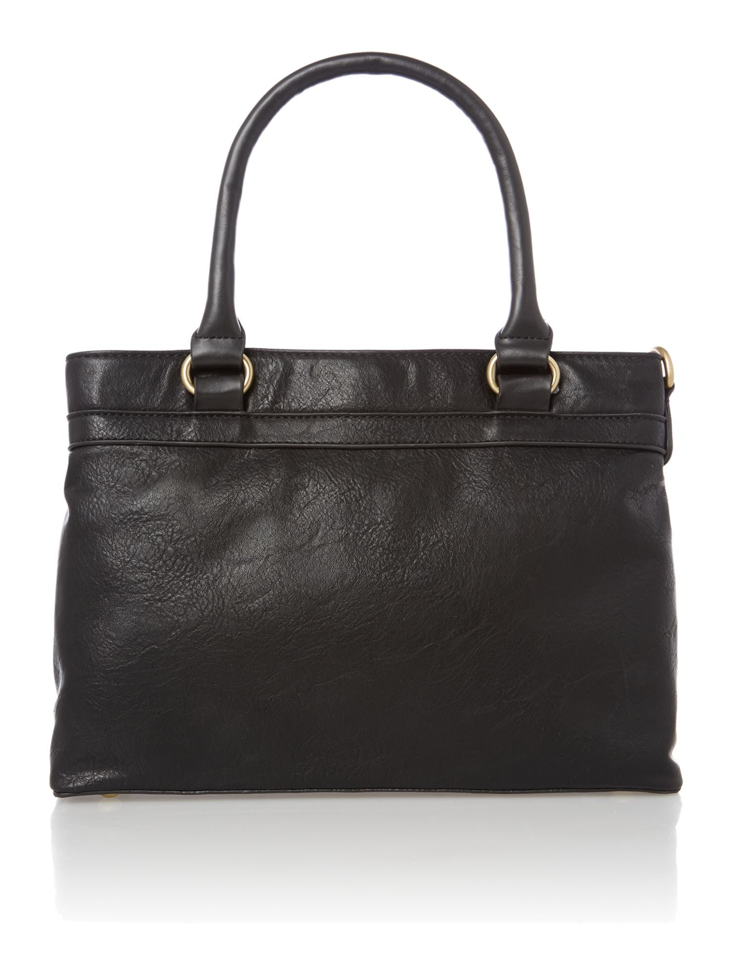 Black mini tote bag
