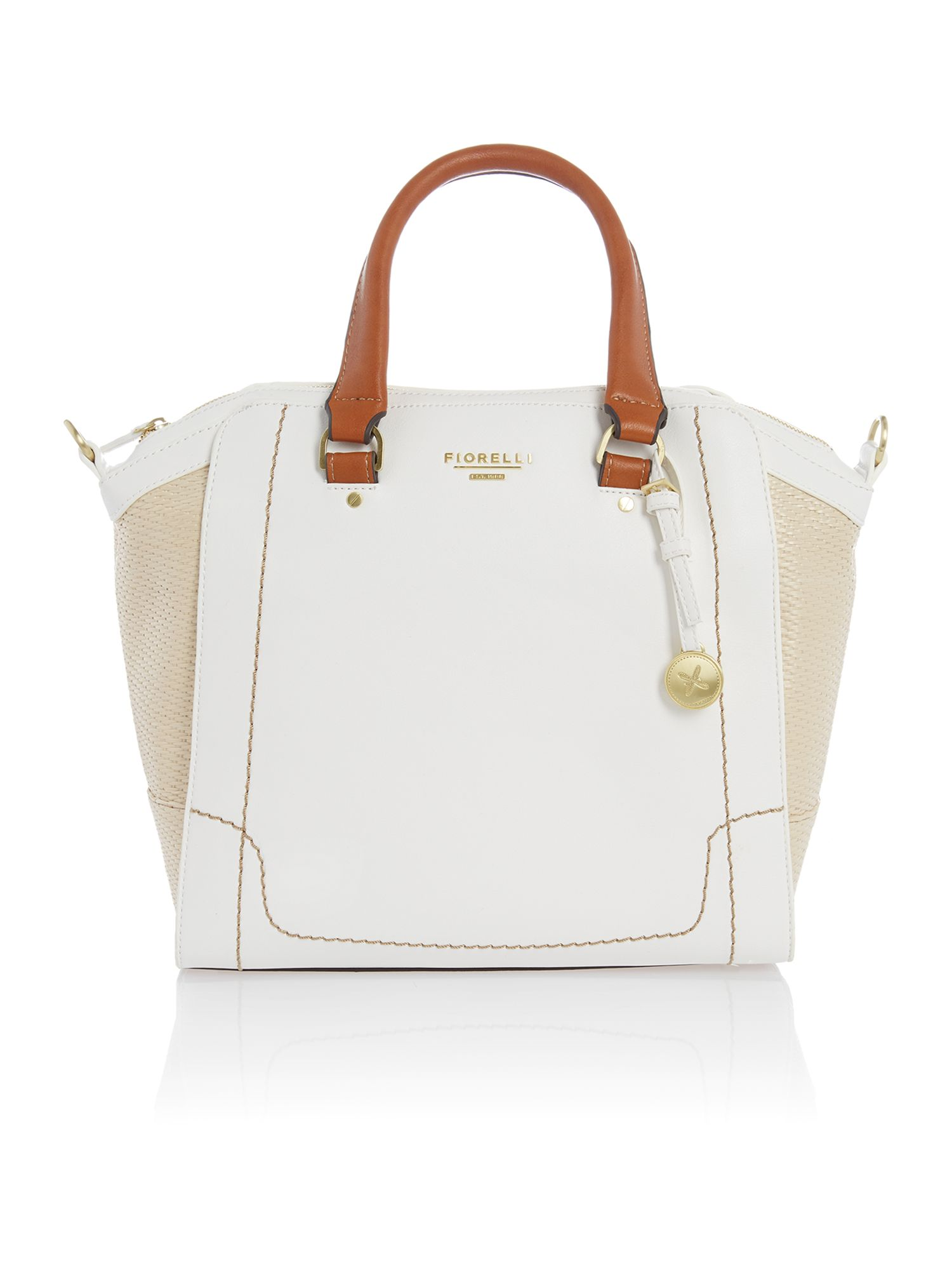 Kenzie white tote bag