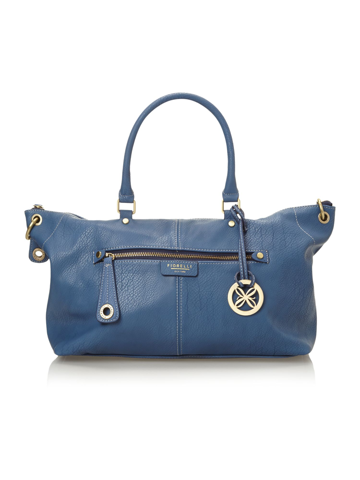 Amelia blue tote bag